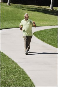 Walking briskly is healthy for your circulation and heart