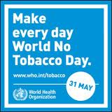 May 31 is world-wide no smoking day