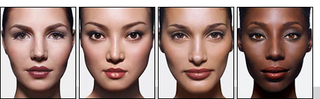 Plastic surgery for eyebrows and eyelids is not required