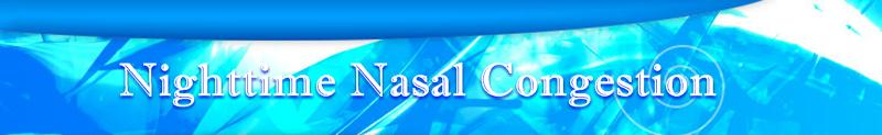 Welcome to Nighttime Nasal Congestion information source about Nighttime Nasal Congestion!