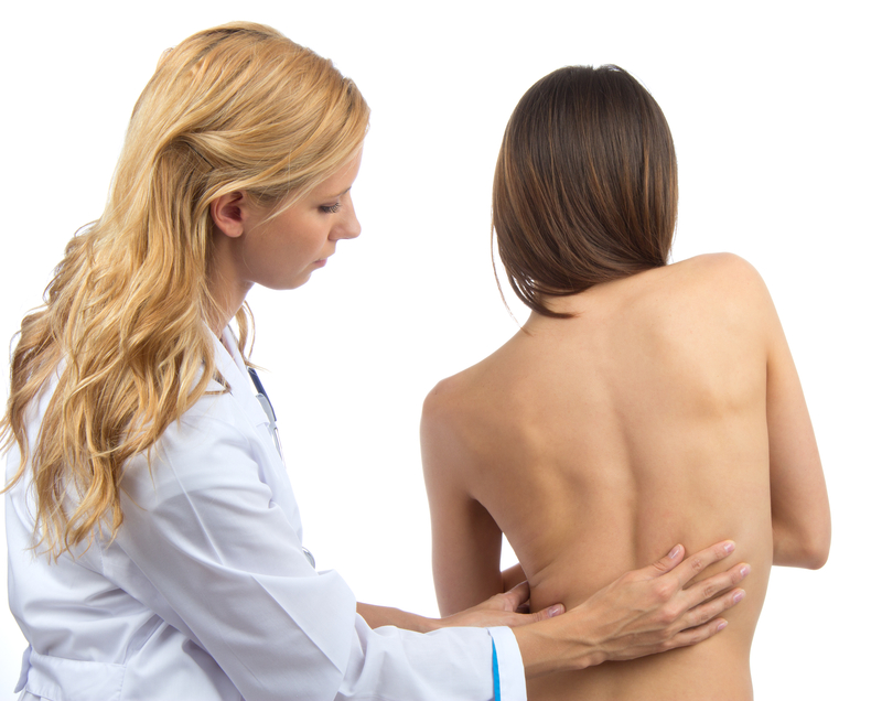 Doctor doing an Osteoporosis Examination